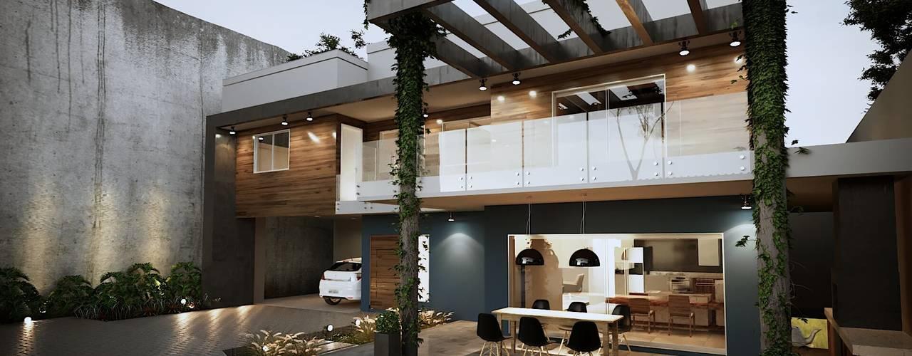 Projeto Casa DF  (Cafundá) Taquara RJ: Garagens e edículas  por Gelker Ribeiro Arquitetura   Arquiteto Rio de Janeiro
