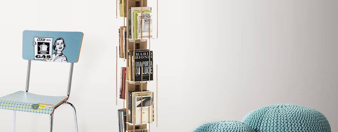 Libreria verticale Zia Veronica Le zie di Milano Camera da lettoArmadi & Cassettiere Legno massello