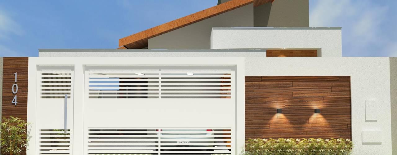 Projeto Arquitetônico de Residência Moderna: Casas familiares  por Júlio Padilha Fabiani - Arquiteto