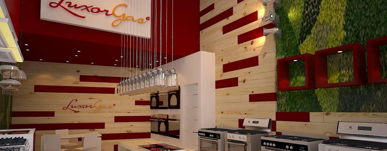 Local comercial a la calle: Galerías y espacios comerciales de estilo  por Faerman Stands y Asoc S.R.L. - Arquitectos - Rosario,Moderno