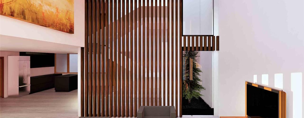 Salas de estilo moderno de Arqmando taller de arquitectura Moderno