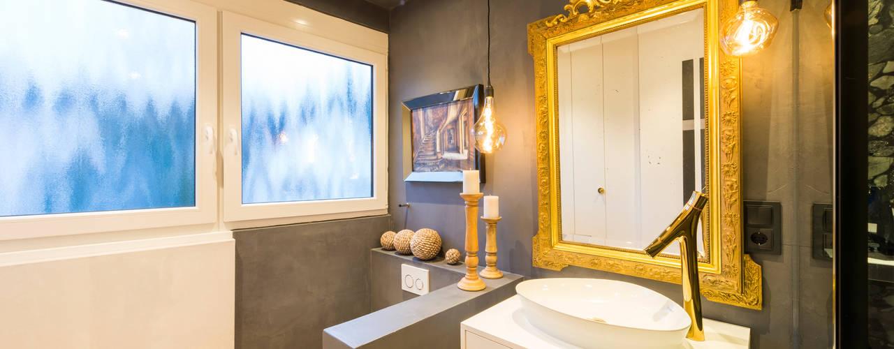 Edle Badezimmer-Renovierung eines Düsseldorfer Innenarchitekten