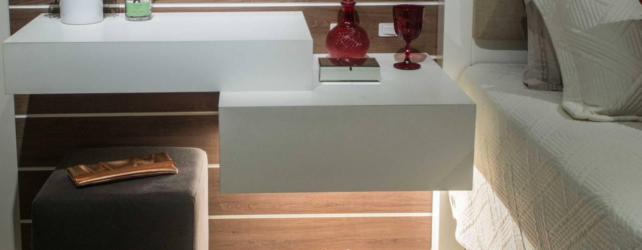 Suíte elegante Revisite Quartos modernos Concreto Cinza