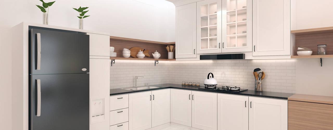 JRY Atelier Вбудовані кухні Фанера Білий