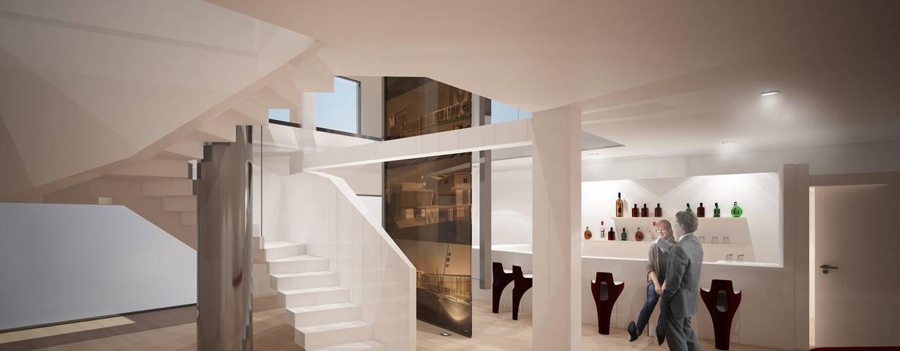 Riqualificazione funzionale ed ampliamento showroom materiali edilizi : Spazi commerciali in stile  di Simone Fratta Architetto