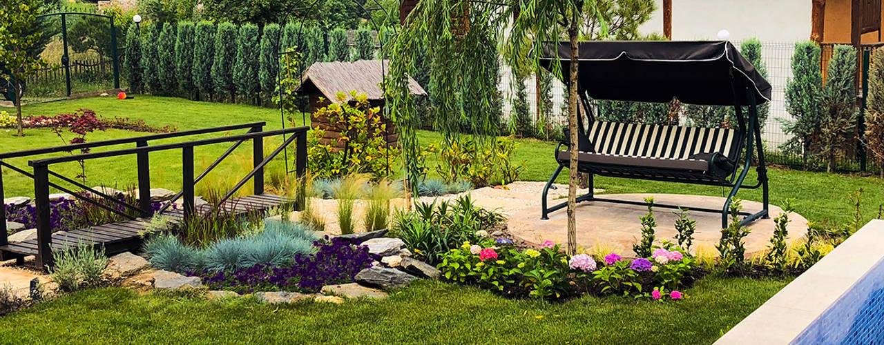 konseptDE Peyzaj Fidancılık Tic. Ltd. Şti. – MASALKÖY öZEL KONUT Peyzaj Projelendirme ve Uygulama & Landscaping project and application:  tarz Bahçe