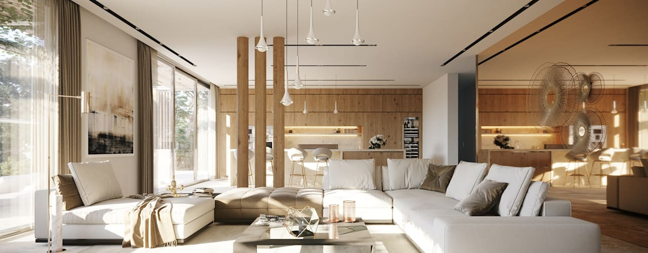 Living room by TABARQ, Mediterranean