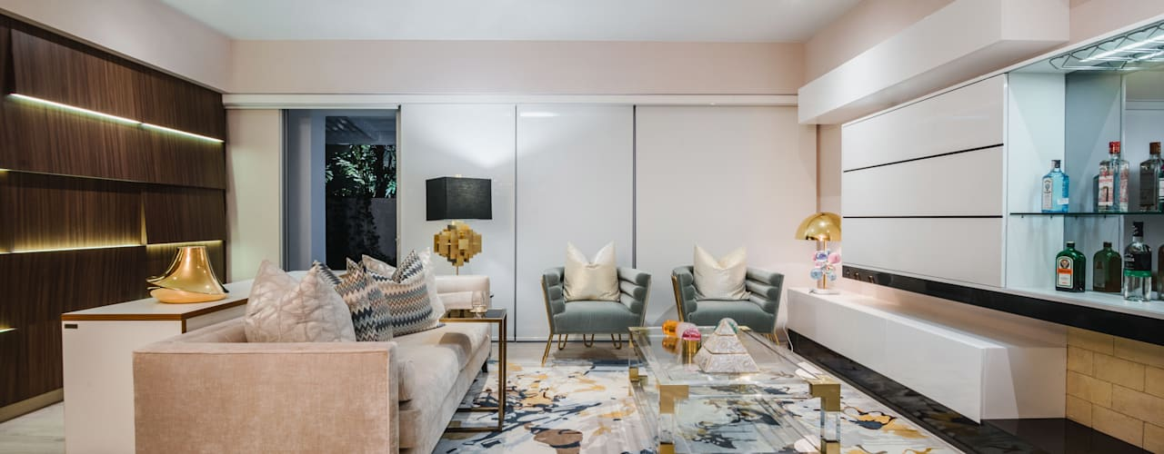 Salas de estar modernas por Luis Escobar Interiorismo Moderno