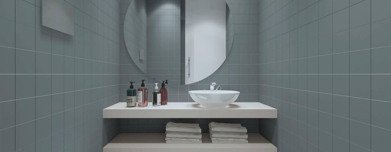 Apartamento, Antas - Porto Casas de banho modernas por MIA arquitetos Moderno