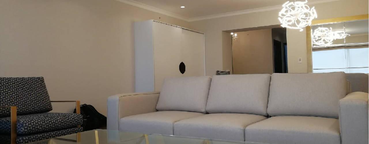 Departamento JESP: Salas / recibidores de estilo  por Soluciones Técnicas y de Arquitectura , Moderno