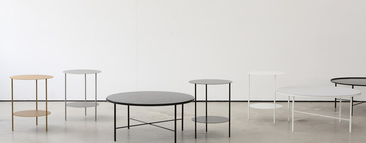 Basic Round Side Table [Black.White]: PLUSTAN. 플러스탠의