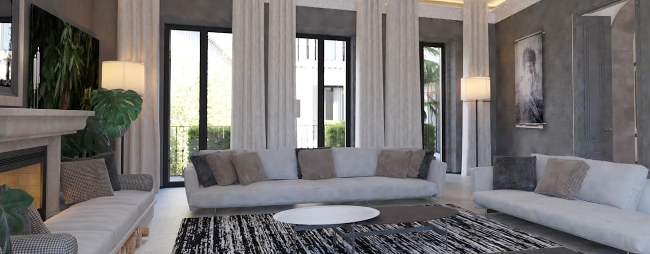 Carre de Sol, Palma Eclectic style living room by 4D Studio Architects and Interior Designers Eclectic