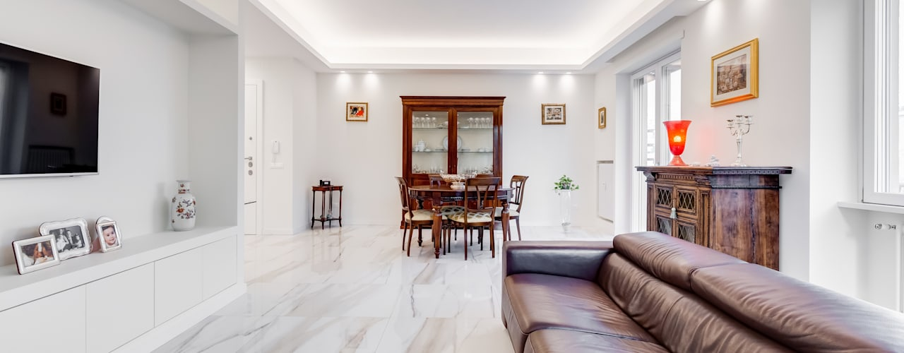 Ristrutturazione casa in stile classico moderno a roma for Stile classico moderno