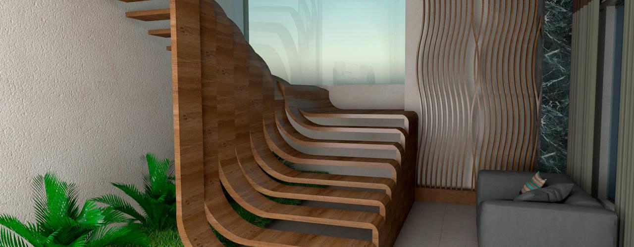 Eduardo Zamora arquitectos درج خشب