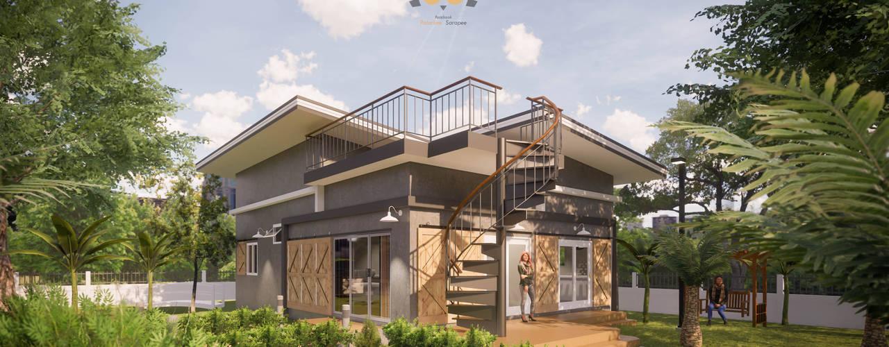 bởi แบบบ้านออกแบบบ้านเชียงใหม่ Hiện đại
