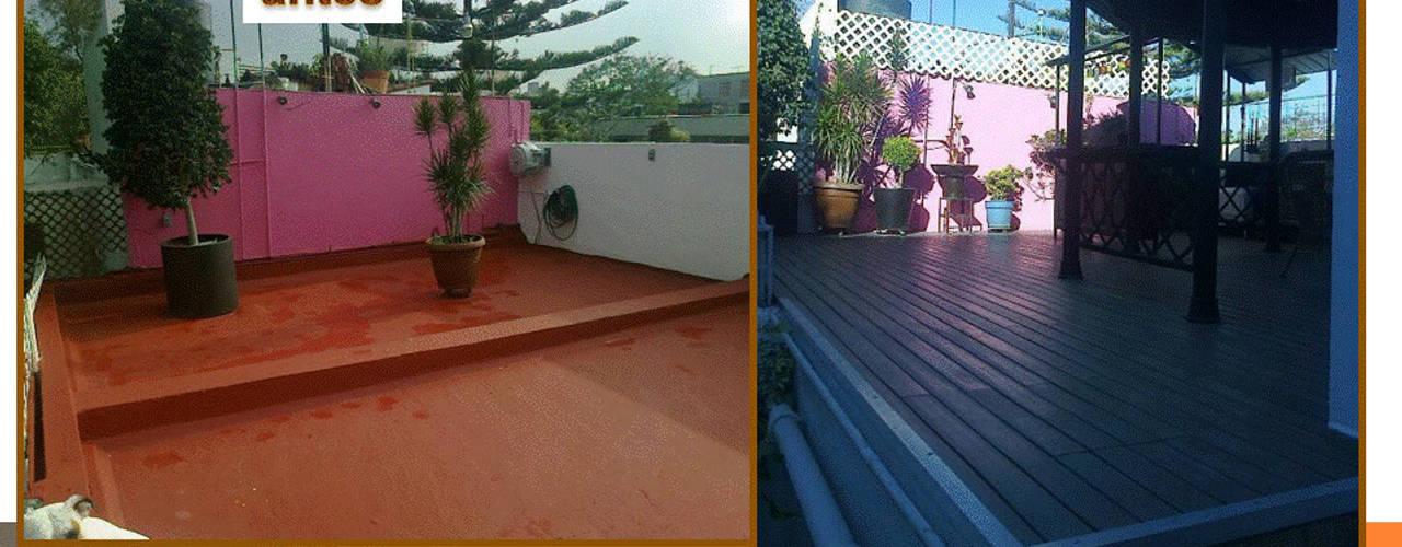 Antes y Despues: Balcón de estilo  por VIVE arquitectura,