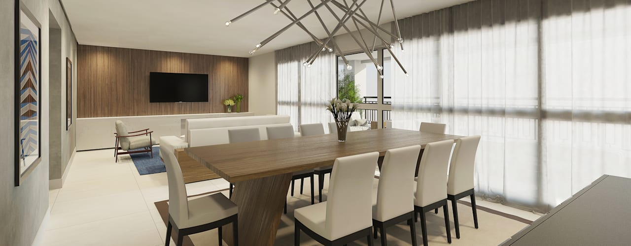 Apartamento Ares Salas de estar ecléticas por C2HA Arquitetos Eclético