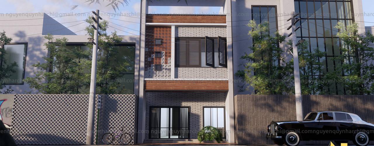 Nhà phố 1 mặt tiền hướng tây bởi AcilB Design Nhiệt đới