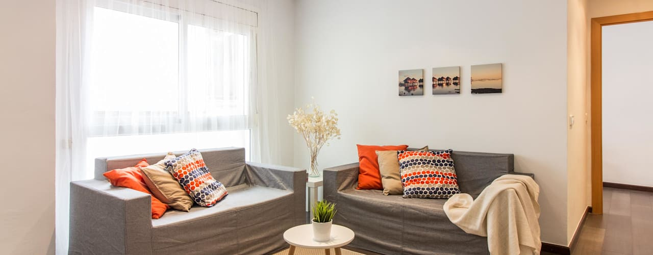 La transformación de una oficina mediante Home Staging en Barcelona: Salones de estilo  de Impuls Home Staging en Barcelona