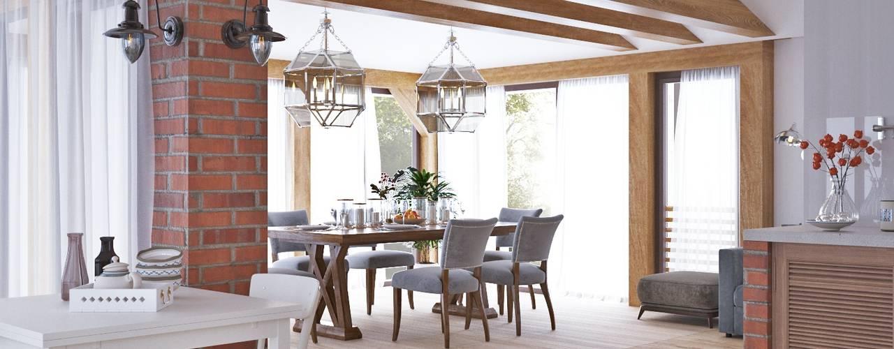 Гостевой дом AV108: Столовые комнаты в . Автор – Архитектурная студия 'АВТОР'