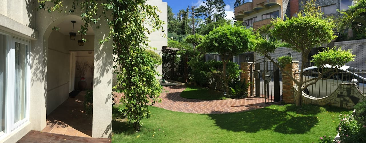 南島美式混搭風之景觀庭園 根據 大地工房景觀公司 熱帶風