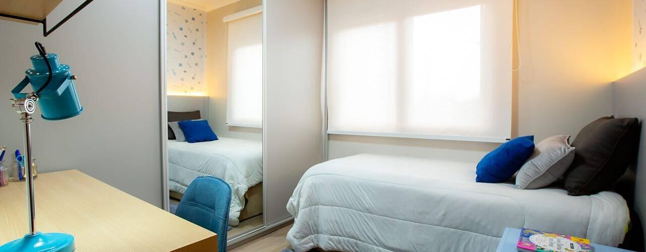 Dormitório infantil de menino adaptado para o crescimento por ZOMA Arquitetura Moderno