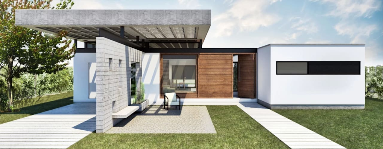Diseño de Casa en Cañitas 01 por 1.61 Arquitectos de 1.61 Arquitectos Moderno