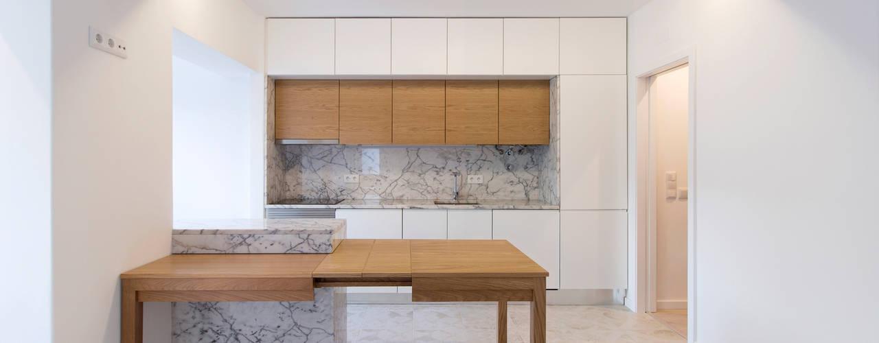 Remodelação T2 Amora Salas de estar minimalistas por BL Design Arquitectura e Interiores Minimalista