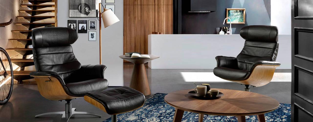 Salón de diseño con muebles de la colección Incanto by Angel Cerdá:  de estilo  de ANGEL CERDA
