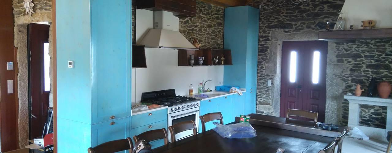 Renovação Espaço Rústico Cozinhas rústicas por Home Recover Rústico