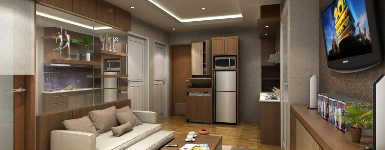 Apartemen Setiabudi Bandung: Ruang Keluarga oleh Maxx Details,