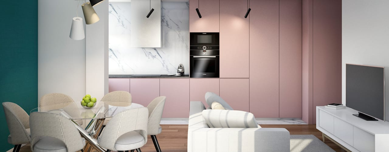 Alma Braguesa Furniture Unit dapur MDF Pink