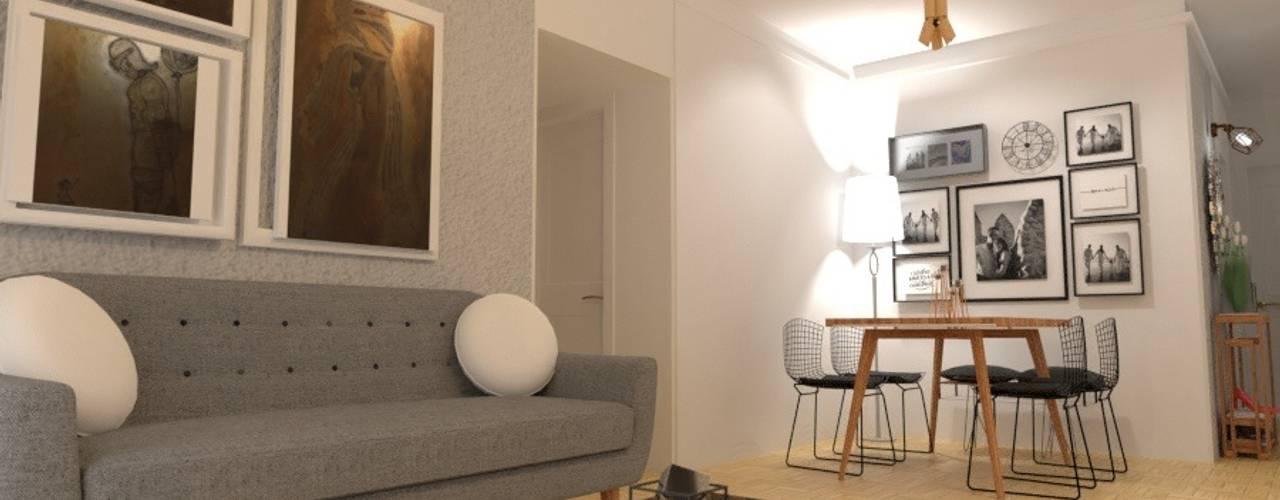 Salas de estilo  por Arquimundo 3g - Diseño de Interiores - Ciudad de Buenos Aires