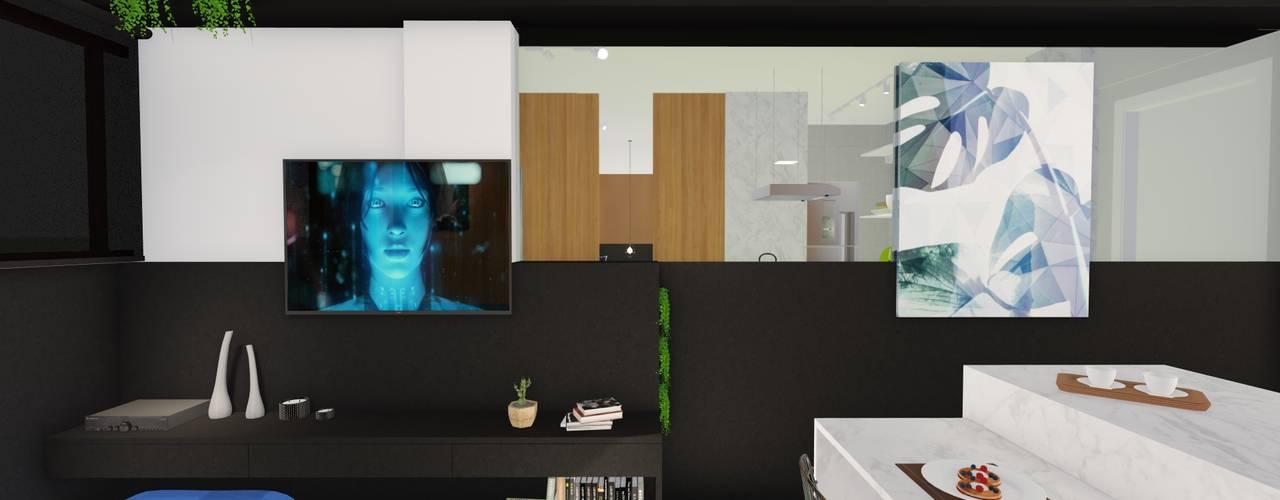 Nowoczesny salon od Arquitetura Sônia Beltrão & associados Nowoczesny