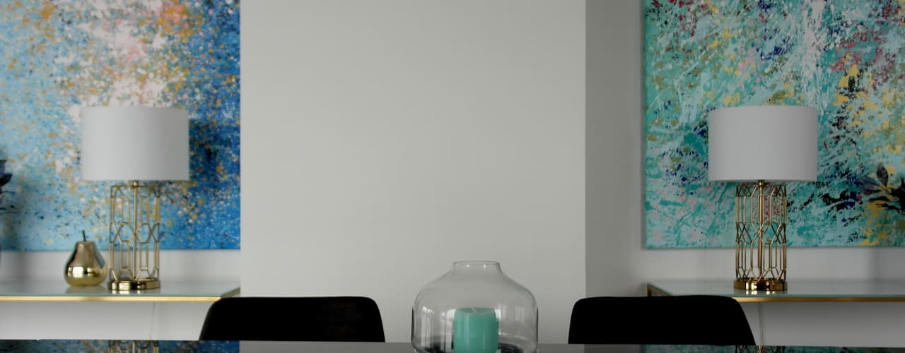 Apartment Rosenhügel Vienna :  Esszimmer von Anastasia Reicher Interior Design & Decoration in Wien