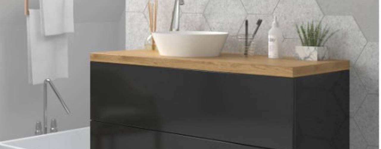 Muebles en combinación de blanco y madera para tu baño:  de estilo  de TheBathPoint