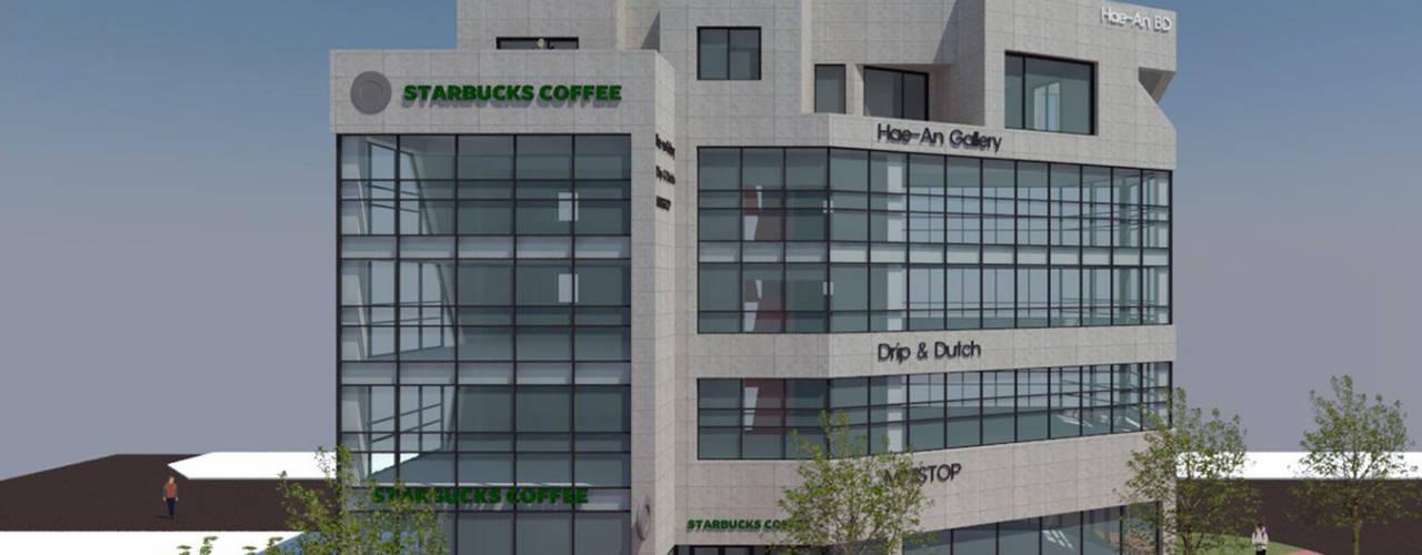 목포 상가주택계획안: 인우건축사사무소의  상업 공간