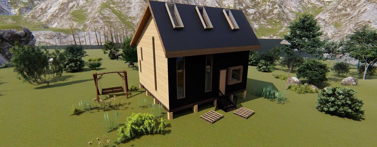 Diseño de Cabaña Rural en Coquimbo: Casas unifamiliares de estilo  por Ekeko arquitectura  - Coquimbo