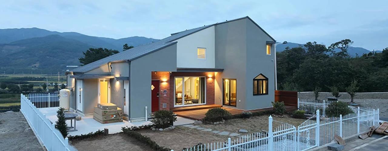 광양 추산리주택 모던스타일 주택 by 주택설계전문 디자인그룹 홈스타일토토 모던