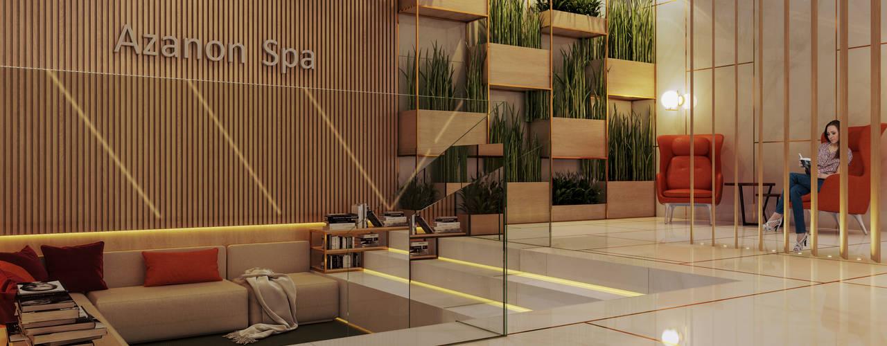 Recepção Spa | Alto Padrão: Clínicas  por NP projetos comerciais