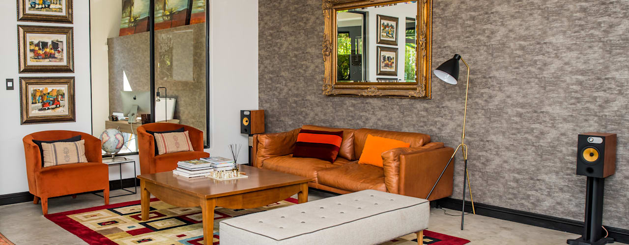 The Dambuza Home in Sandton  :  Living room by TOP CENTRE PROPERTIES GROUP (PTY) LTD, Eclectic