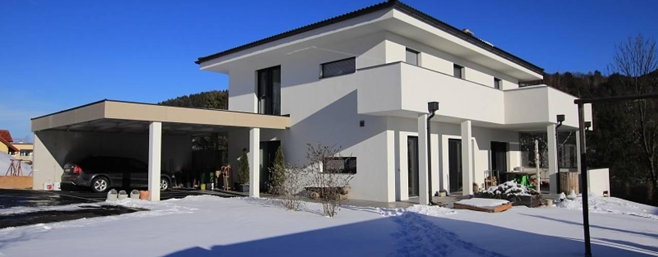 Style Einfamilienhaus archipur Architekten aus Wien Moderne Häuser Weiß