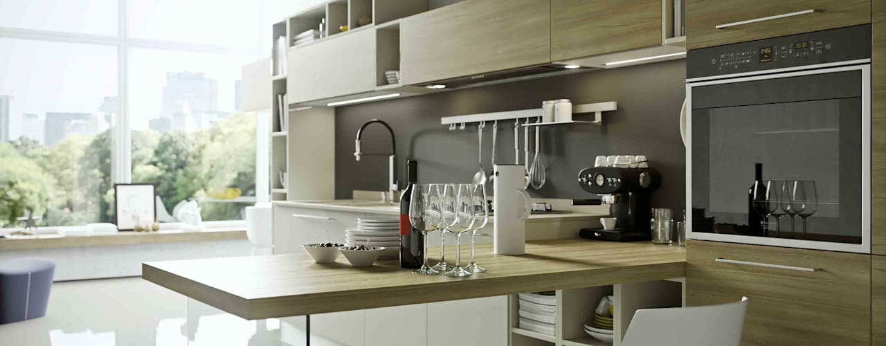 Disarteco Kitchen units Quartz Wood effect