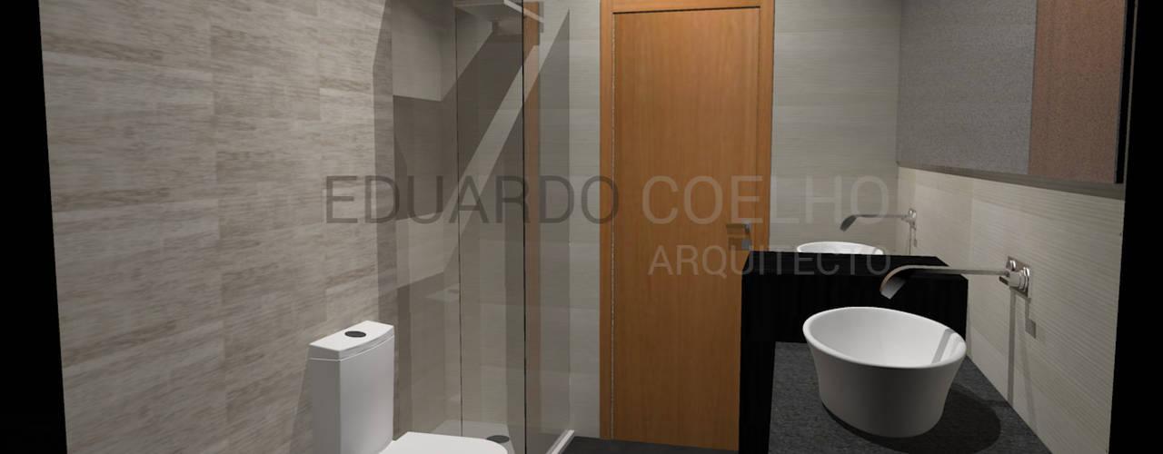 CASA DE BANHO Casas de banho minimalistas por Eduardo Coelho | Arquitecto Minimalista