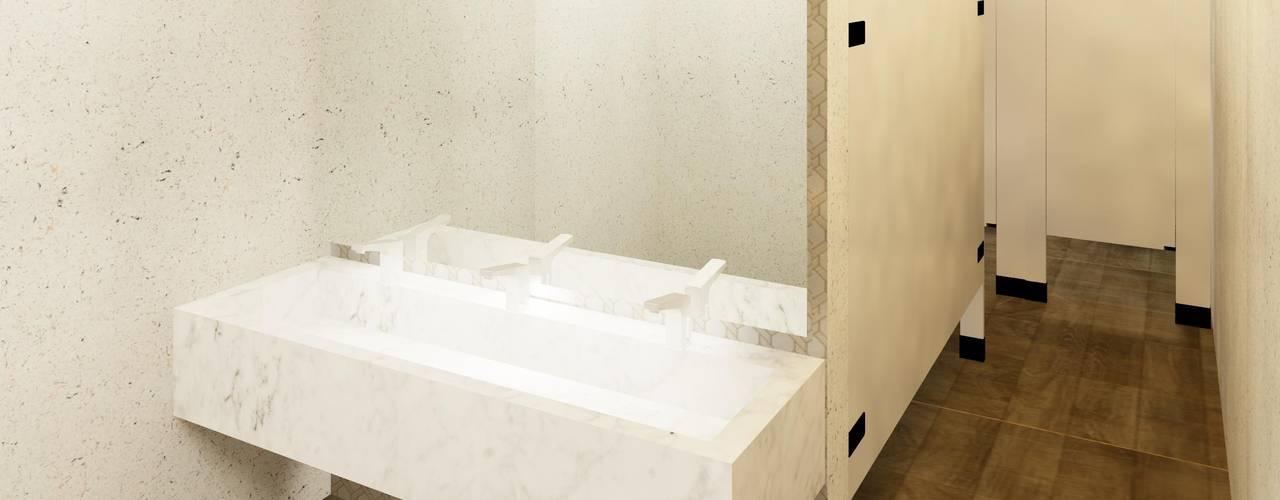 Diseño De Baños Públicos En Plaza Comercial Por Arquitectos