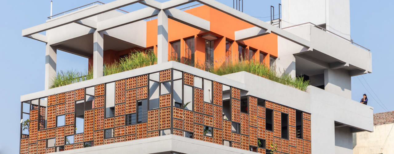 Design for 4,000 sq. ft. at Ranjangaon Ganpati, Pune by M+P Architects Collaborative Minimalist