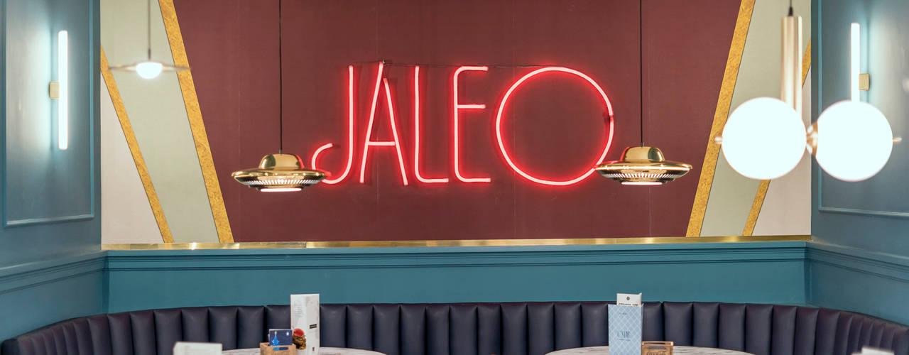Diseño y decoración restaurante clásico vintage Madrid: Bares y Clubs de estilo  de Guille Garcia-Hoz, interiorismo y reformas en Madrid, Moderno