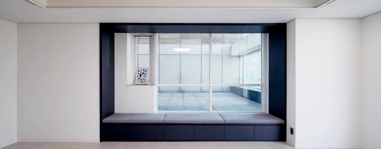 송도 퍼스트월드 골드포인트 모던하우스 모던스타일 침실 by 디자인 아버 모던