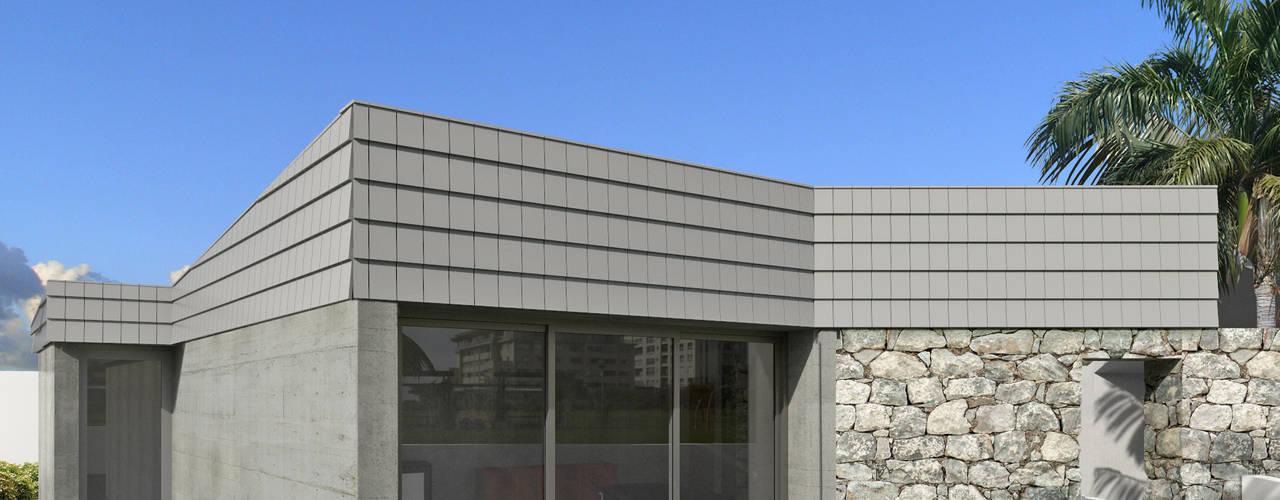 Wall House: Salas de estar  por Limit Studio