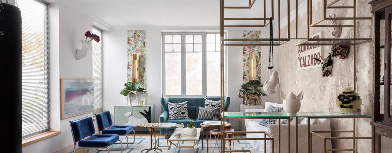 Diseño y decoración de un salón moderno en Madrid Salones de estilo moderno de Guille Garcia-Hoz, interiorismo y reformas en Madrid Moderno